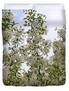 White Flowers On Branches Duvet Cover