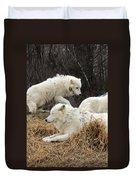 White Furs Duvet Cover