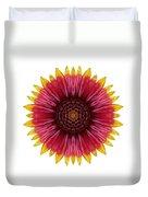 Galliardia Arizona Sun I Flower Mandala White Duvet Cover
