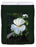 White Geranium Duvet Cover