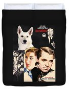 White German Shepherd Art Canvas Print - Suspicion Movie Poster Duvet Cover