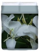 White Ginger Lily Duvet Cover