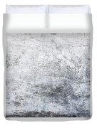 White Grungy Cement Wall Duvet Cover