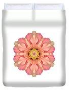Hibiscus Rosa-sinensis I Flower Mandala White Duvet Cover
