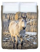 White Horse And Hey Duvet Cover