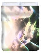 White Hot Fire Dancer Duvet Cover