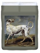 White Hound Duvet Cover