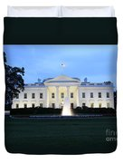 White House In Eveninglight Washington Dc Duvet Cover