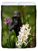 White Hyacinth In The Garden Duvet Cover