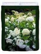 White Hydrangeas Duvet Cover