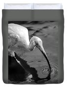 White Ibis - Bw Duvet Cover