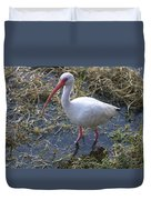 White Ibis In The Swamp Duvet Cover