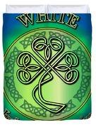 White Ireland To America Duvet Cover