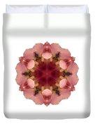 Iris Germanica I Flower Mandala White Duvet Cover