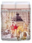 White Joy Duvet Cover