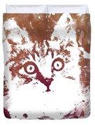 White Kitty Duvet Cover