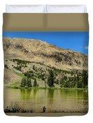 White Knob Mountain Lake Duvet Cover