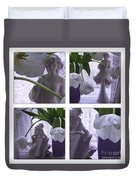 White Lace Picture Window Duvet Cover