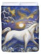 White Lightening Duvet Cover