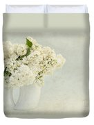 White Lilac In A Cream Jug Duvet Cover