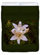 White Lily Starburst Duvet Cover