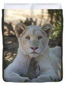 White Lion Cub  Duvet Cover