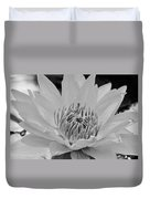 White Lotus 2 Bw Duvet Cover