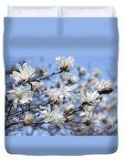 White Magnolia Magnificence Duvet Cover