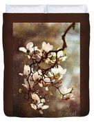 White Magnolias Duvet Cover