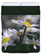 White Marguerite Duvet Cover