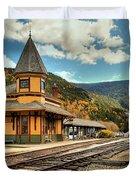 White Mountans Crawford Train Depot Duvet Cover