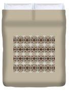White Mums Design Duvet Cover