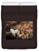 White Mushroom Long Gills Duvet Cover