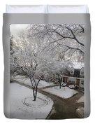 White Neighbourhood Duvet Cover