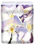 White Oleander Duvet Cover