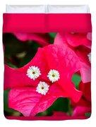 White On Red Trinity Duvet Cover