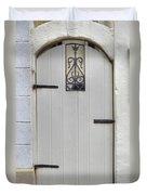 White On White Door Duvet Cover