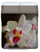 White Orchid Close Duvet Cover