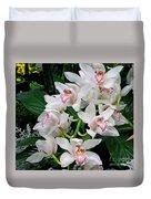 White Orchid In Full Bloom Duvet Cover