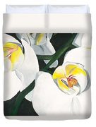 White Orchid Duvet Cover by Lisa Bentley