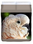 White Parrot Duvet Cover