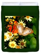 White Peacock Butterfly I V Duvet Cover