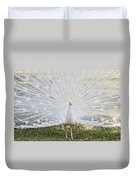 White Peacock - Fountain Of Youth Duvet Cover