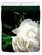White Peony Duvet Cover