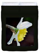 White Petaled Daffodil Duvet Cover