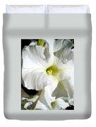 White Petunia Duvet Cover