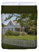 White Pickett Fence Duvet Cover
