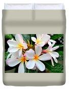 White Plumeria - 2 Duvet Cover