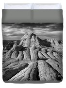 White Pocket Brain Rock Duvet Cover by Jerry Fornarotto
