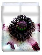 White Poppy Macro Duvet Cover